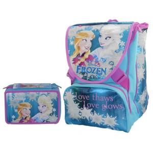 Cartoleria Schoolpack Frozen. Zaino Sdoppiabile Big + Astuccio organizzato 3 zip + Cuffie Stereo Seven 0