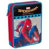 Cartoleria Astuccio attrezzato Maxi 2 zip Spider-Man Homecoming Seven