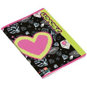 Quaderno maxi A4 Seven Girl. Quadretti grandi 10 mm