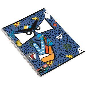Quaderno con spirale maxi A4 Invicta Face. 1 rigo - 3