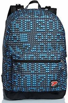 Zaino Reversibile Backpack The Double Spec Ed Ledwall, Turchese Fluo - 33x44x16 cm