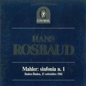 Hans Rosbaud Mahler - Vinile LP di Gustav Mahler