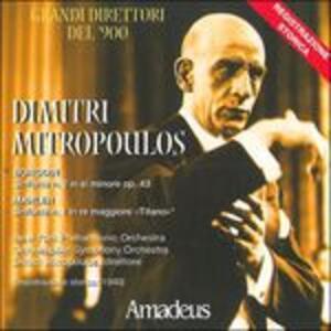 Sinfonia n.2 op.43 / Sinfonia Titano n.1 in Re - CD Audio di Gustav Mahler,Alexander Porfirevic Borodin,Dimitri Mitropoulos
