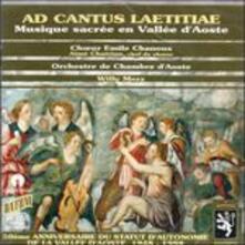 Ad Cantus Laetitiae - CD Audio
