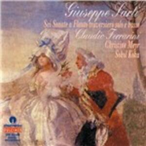 Sonata a flauto traversiero solo e basso n.1 - CD Audio di Giuseppe Sarti