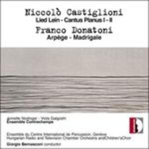 Cantus Planus I - CD Audio di Niccolò Castiglioni