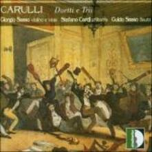 Trois Petites Duos Concertants - CD Audio di Ferdinando Carulli,Giorgio Sasso,Stefano Cardi