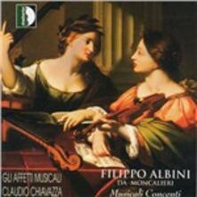 Musicali Concenti a una, due e quattro voci op.2 - CD Audio di Filippo Albini da Moncalieri