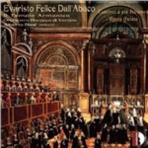 Concerti a più istrumenti opera V - CD Audio di Evaristo Felice Dall'Abaco