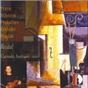 Recital per violino solo - CD Audio di Carmelo Andriani
