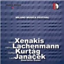 Milano musica festival. Quartetti per archi - CD Audio di Leos Janacek,Iannis Xenakis