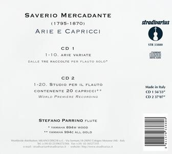 Arie e Capricci - CD Audio di Saverio Mercadante - 2