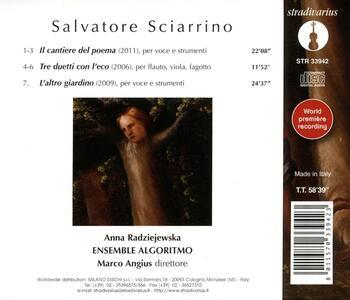 Cantiere Del Poema per Voce e Strumenti - CD Audio di Salvatore Sciarrino - 2