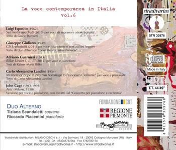 La voce contemporanea in Italia vol.6 - CD Audio di Duo Alterno - 2