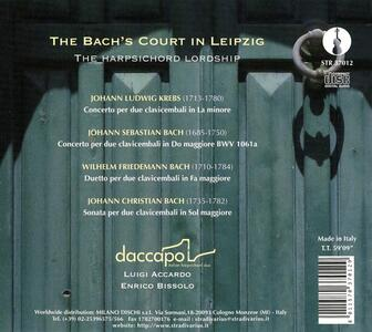 The Bach's Court in Leipzig - CD Audio di Johann Ludwig Krebs - 2