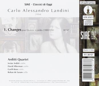 Changes - CD Audio di Carlo Alessandro Landini,Arditti Quartet - 2