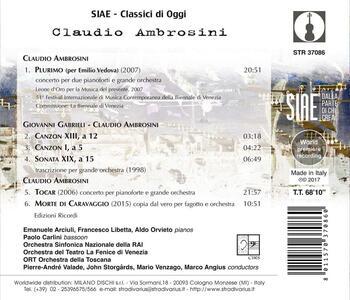 Plurimo. Concerto per due pianoforti e grande orchestra - CD Audio di Claudio Ambrosini - 2