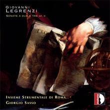 Sonate a Due e Tre Op.2 - CD Audio di Insieme Strumentale di Roma,Giovanni Legrenzi