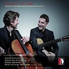 La isla y el mar - CD Audio di Astor Piazzolla,André Fischer