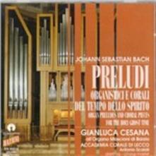 Preludi per Organo e Corali Del Tempo Dello Spirit - CD Audio di Johann Sebastian Bach