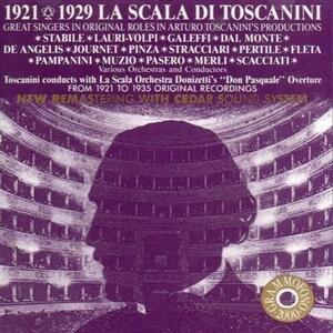 La Scala di Toscanini 1921-1929 - CD Audio di Gaetano Donizetti