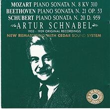 Sonate per pianoforte - CD Audio di Ludwig van Beethoven,Wolfgang Amadeus Mozart,Franz Schubert,Artur Schnabel