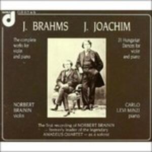Opere per violino e pianoforte - CD Audio di Johannes Brahms