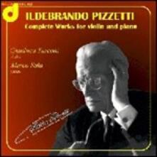 Opere per violino e pianoforte - CD Audio di Ildebrando Pizzetti