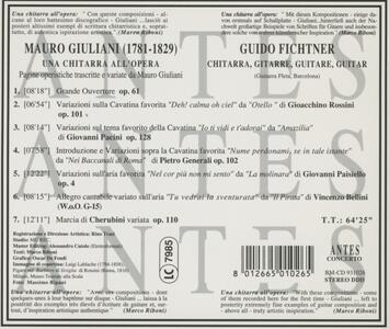 A Guitar At The Opera - CD Audio di Mauro Giuliani,Guido Fichtner - 2