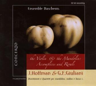 Divertimenti e Quartetti per mandolino, violino e basso continuo - CD Audio di Johann Hoffmann,Giovanni Francesco Giuliani