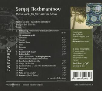 Opere per pianoforte a 4 e 6 mani - CD Audio di Sergej Vasilevich Rachmaninov - 2