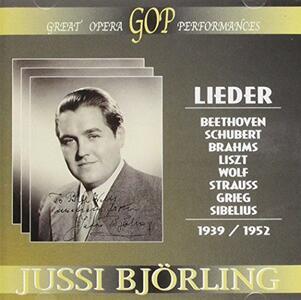 Jussi Bjorling Lieder - CD Audio di Ludwig van Beethoven