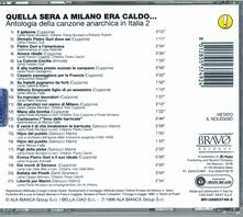 Quella sera a Milano era caldo... - CD Audio