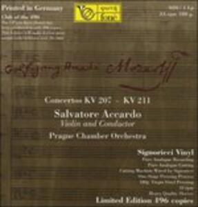 Concerti KV207, KV211 - Vinile LP di Wolfgang Amadeus Mozart,Salvatore Accardo,Orchestra da camera di Praga