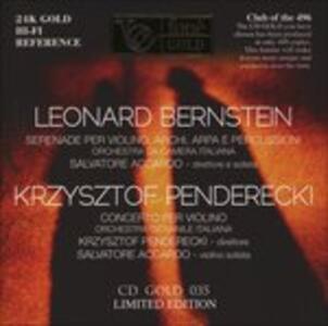 Musica per violino - CD Audio di Leonard Bernstein,Krzysztof Penderecki