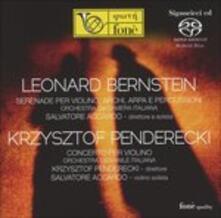 Musica per violino - SuperAudio CD ibrido di Leonard Bernstein,Krzysztof Penderecki,Salvatore Accardo