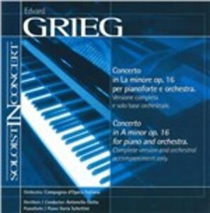 Concerto In A Minor - CD Audio di Edvard Grieg