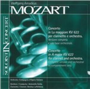 Concerto In A Major - CD Audio di Wolfgang Amadeus Mozart