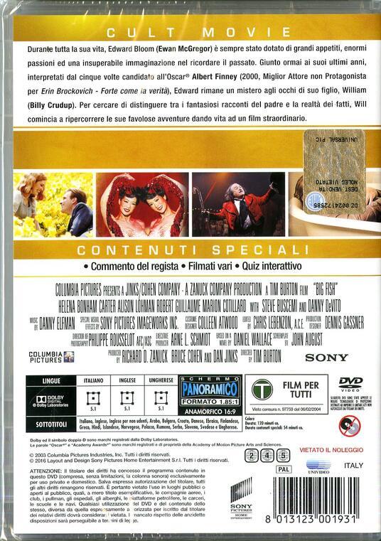 Big Fish. Le storie di una vita incredibile di Tim Burton - DVD - 2