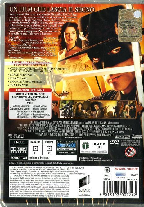 The legend of Zorro di Martin Campbell - DVD - 2