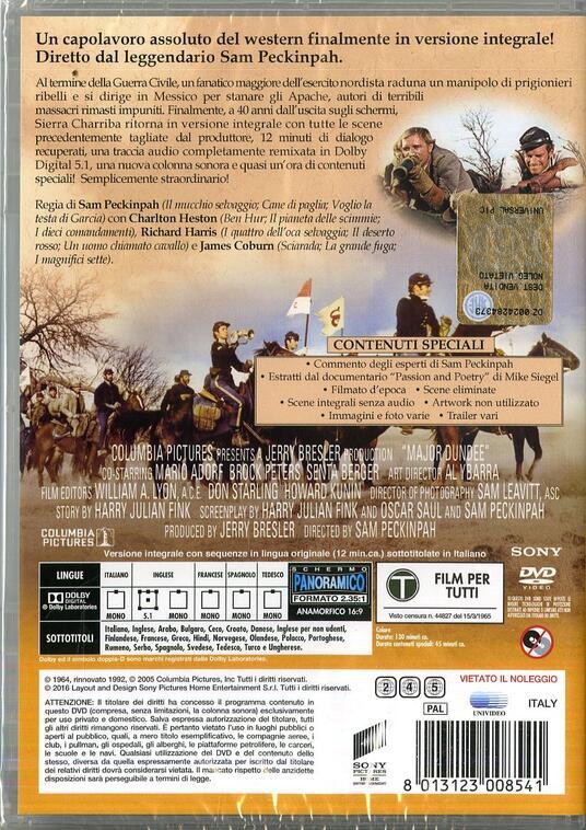 Sierra Charriba di Sam Peckinpah - DVD - 2