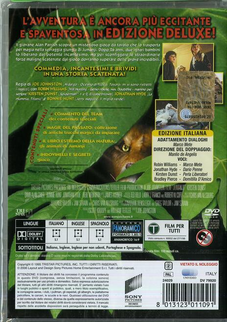 Jumanji<span>.</span> Deluxe Edition di Joe Johnston - DVD - 2