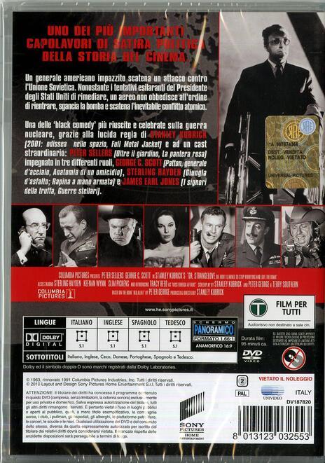 Il dottor Stranamore, ovvero come imparai a non preoccuparmi... di Stanley Kubrick - DVD - 2
