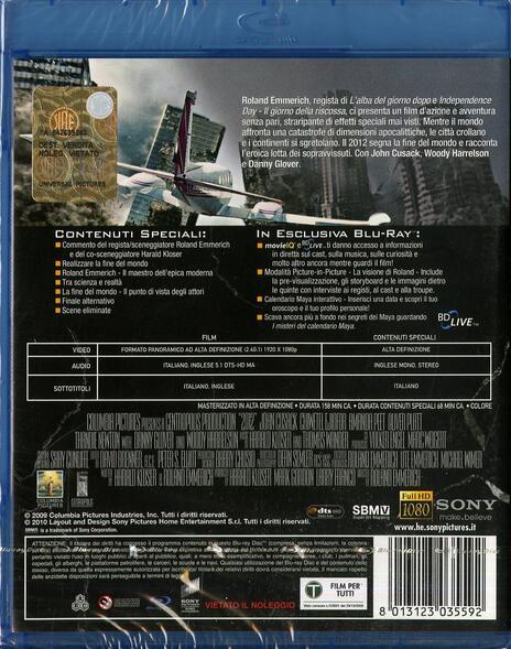 2012 di Roland Emmerich - Blu-ray - 2