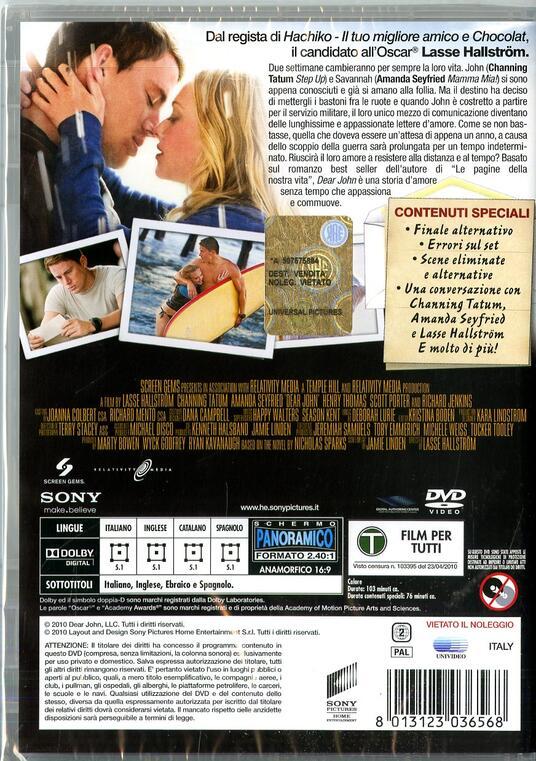 Dear John di Lasse Hällstrom - DVD - 2