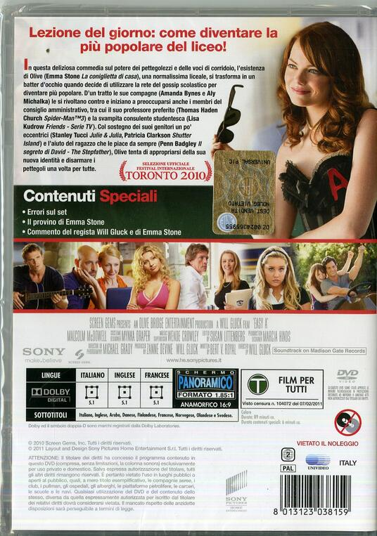 Easy Girl di Will Gluck - DVD - 2