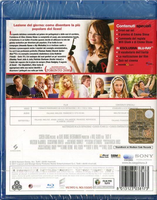 Easy Girl di Will Gluck - Blu-ray - 2