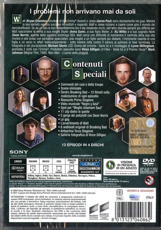 Breaking Bad. Stagione 2 (Serie TV ita) (3 DVD) di Bryan Cranston,Charles Haid,Terry McDonough,John Dahl - DVD - 2