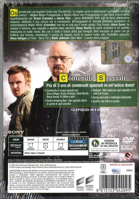 Breaking Bad. Stagione 3 (Serie TV ita) (4 DVD) di Bryan Cranston,Adam Bernstein,Michelle MacLaren - DVD - 2