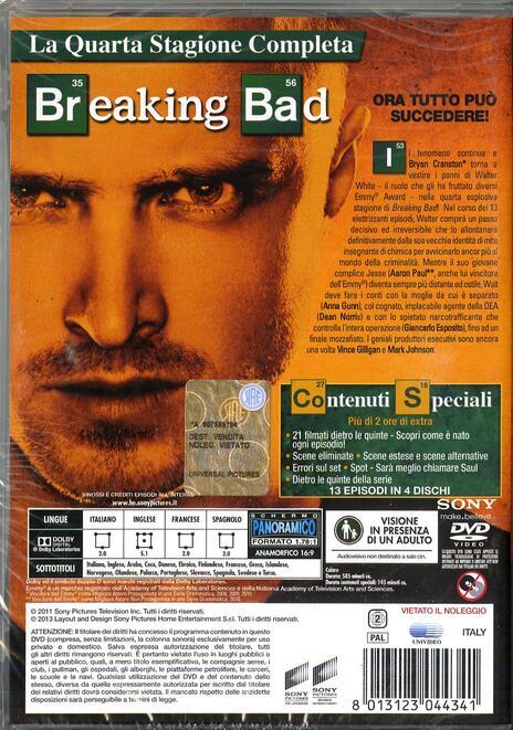 Breaking Bad. Stagione 4 (Serie TV ita) di Adam Bernstein,Michelle MacLaren,David Slade,Colin Bucksey - DVD - 2